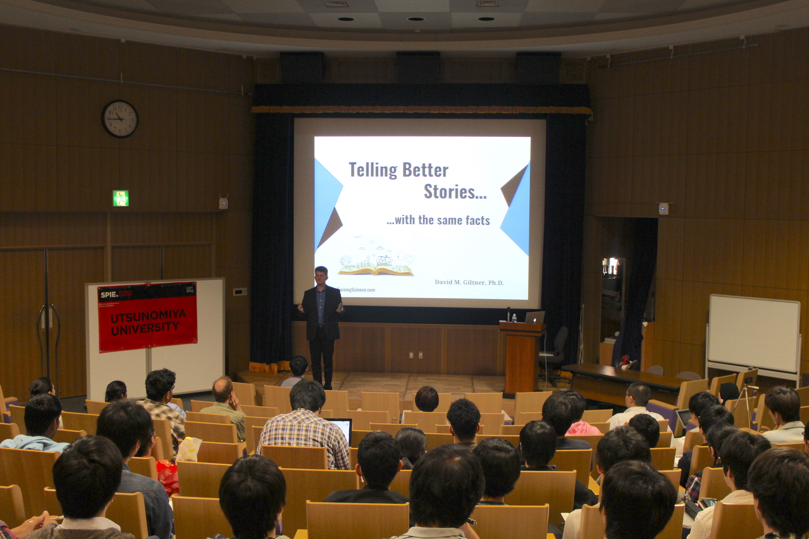 David Giltner speaking at Utsunomiya University