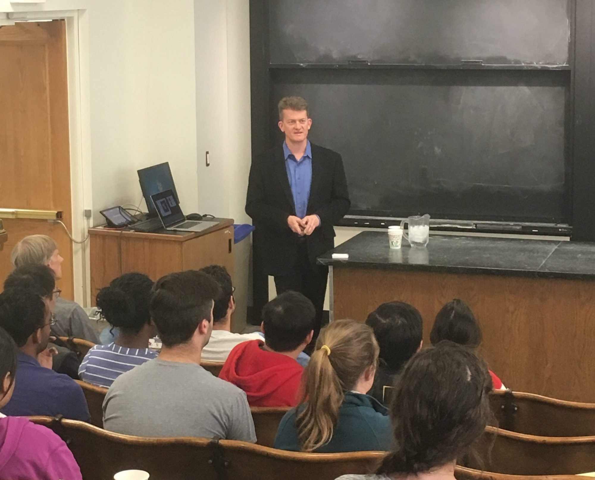 David Giltner speaking at Washington University in St. Louis