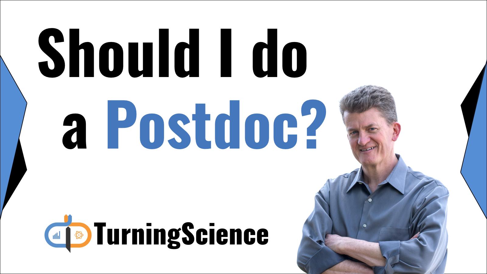 Should I do a postdoc?