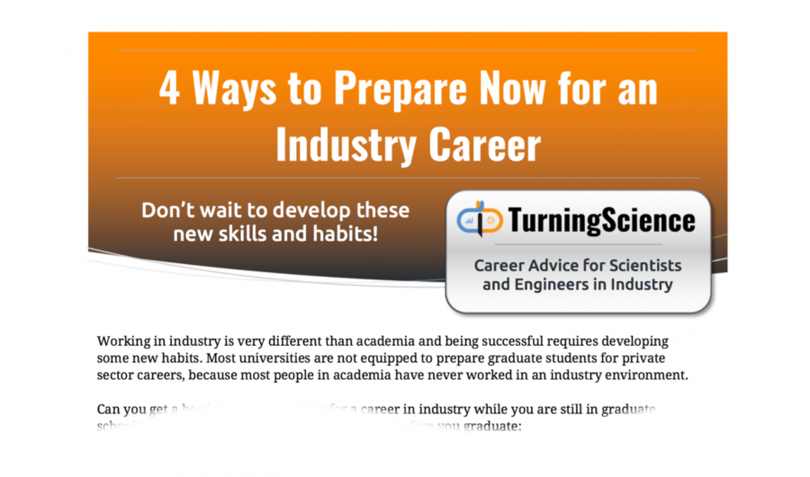 4 Ways You can Prepare Now for an Industry Career