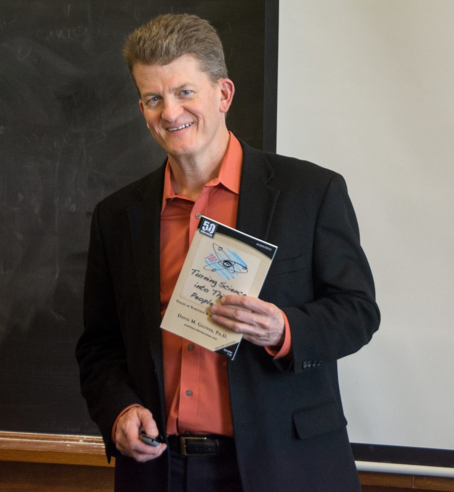 David Giltner with Book